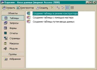 3. Работа с субд ms access
